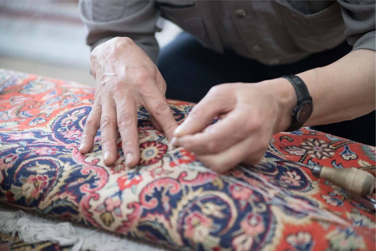 repair patterned carpet